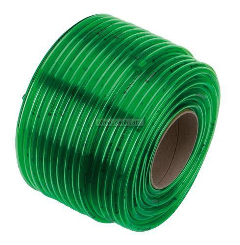 Grün-Transp.-Schlauch 4x1mm auf Kunststoffspule (4982-20)