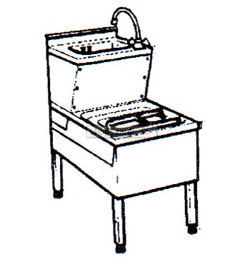 Handwasch-u. Ausgussbecken-Kombination (15156)