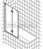 Kermi Diga Faltwand auf Badewanne rechts (KIDI2PR10015VAK)