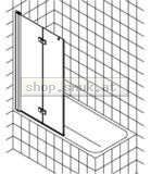 Kermi Diga Faltwand auf Badewanne (KIDI2PR12015VPK)